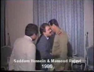 Rajavi & Saddam Hussein-1