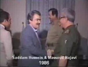 Rajavi & Saddam Hussein-2
